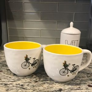 Magenta by Rae Dunn set bicycle mugs